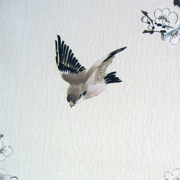 Plum Blossom And Double Birds Chinese Flower Painting