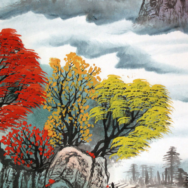 Charming Autumn - Chinese landscape painting - photo#11