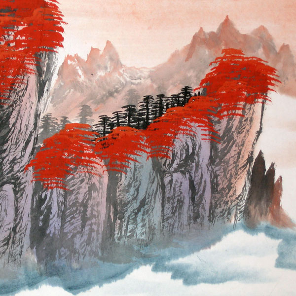 Charming Autumn - Chinese landscape painting - photo#8