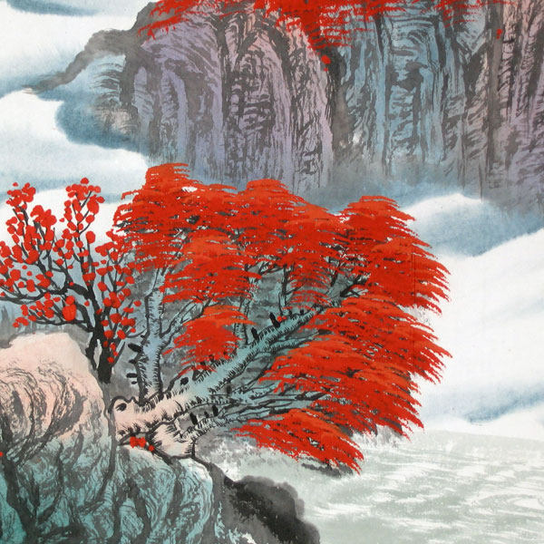 Charming Autumn - Chinese landscape painting - photo#16