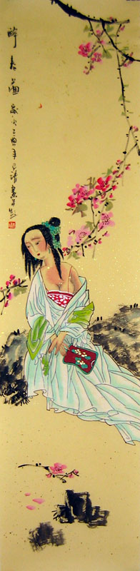 Chinese people paintings - Beauty in the Spring (2)