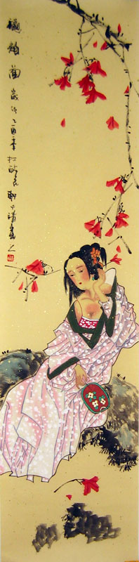 Chinese people paintings - Beauty in the Spring (3)