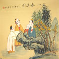 Chinese people paintings - Beauties On a Spring Outing(2)