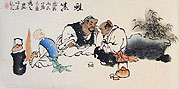Chinese people paintings - Scholars