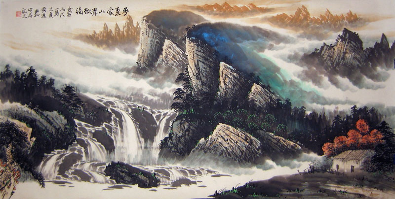 Chinese landscape paintings - Mountains in the autumn
