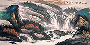 Chinese landscape paintings - Waterfall