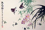 Chinese bird paintings - Sparrows