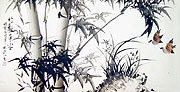 Chinese bamboo paintings - Birds and  Bamboo