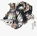 Chinese people paintings - Old man and child