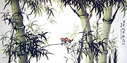Chinese bamboo paintings - Green Bamboo