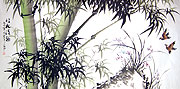 Chinese bamboo paintings - Bamboo and Orchid