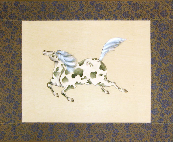 Chinese horse paintings - Silk Painting - Horse (6)