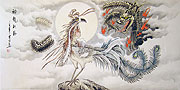 Chinese dragon paintings - Dragon and Phoenix
