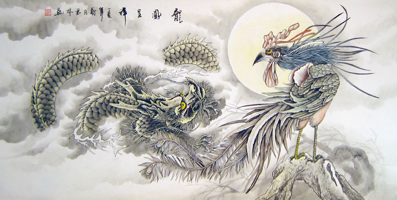 Dragon and Phoenix Bringing Auspiciousness - Chinese ...
