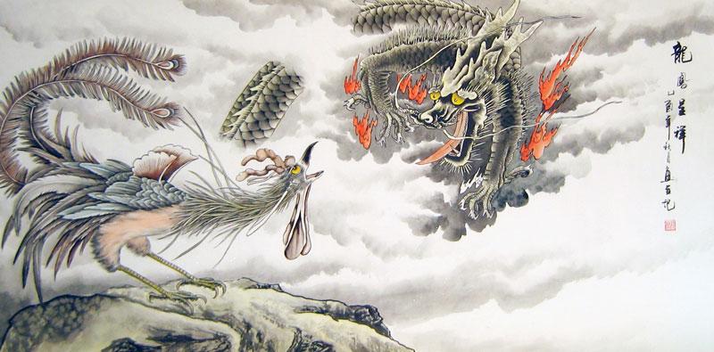 Chinese phoenix paintings