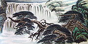 Chinese landscape paintings - Great Waterfall