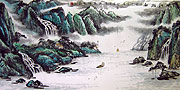 Chinese landscape paintings - Three Gorges of Yangtze River