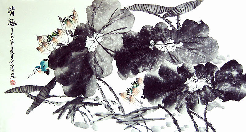 79bc2d1d8 Chinese flower paintings - Ink Lotus