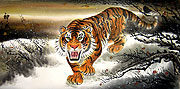 Chinese tiger paintings - King of the Jungle - Tiger (2)