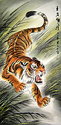 Chinese tiger paintings - Donwn-Hill Tiger