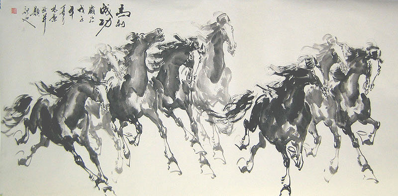 Chinese horse paintings - Galloping Horses