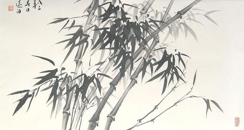 Slender Bamboo Chinese Bamboo Painting