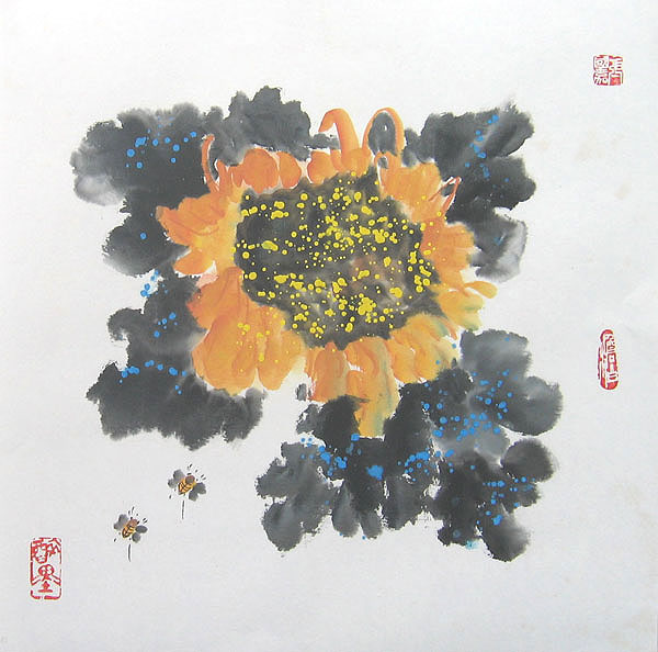 Chinese flower paintings - Sunflower