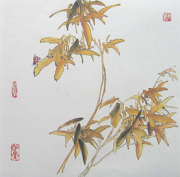 Leaves Painting Paintings Maple Leaves