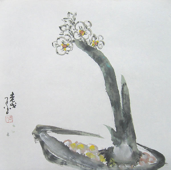 Chinese flower paintings - Narcissus