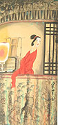 Chinese people paintings - Lady in red
