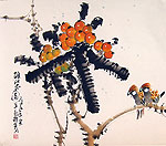 Chinese flower paintings - Fruits and Birds