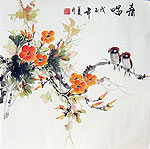 Chinese flower paintings - Flowers and Birds