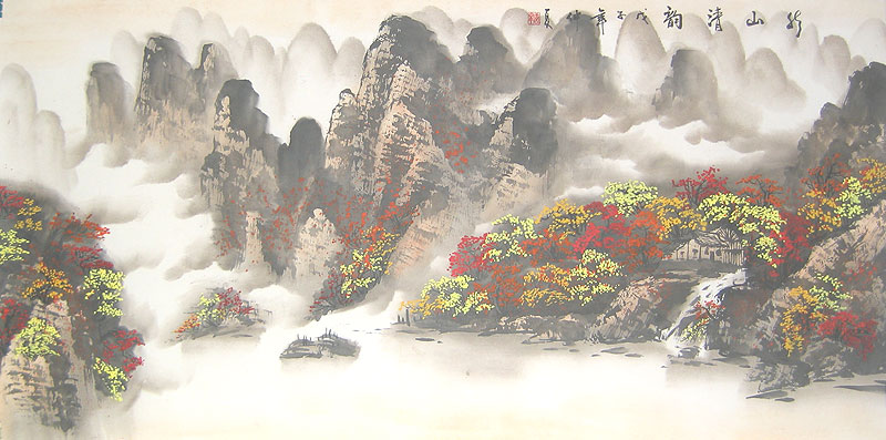 Chinese landscape paintings - Mountain village