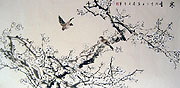 Chinese flower paintings - Plum Blossom and double birds