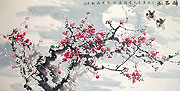 Chinese flower paintings - Drunken Spring
