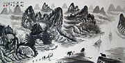 Chinese landscape paintings - Water Village (1)