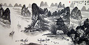 Chinese landscape paintings - Water Village (2)
