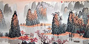 Chinese landscape paintings - Lijiang River in Autumn