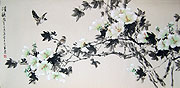 Chinese flower paintings - Spring Flowers and Birds