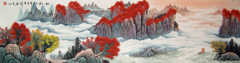 Chinese landscape paintings - Charming Autumn