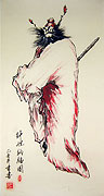 Chinese religion paintings - Painting of Zhong Kui Brings Good Luck