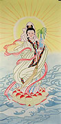 Chinese religion paintings - Kwan-yin Holding the Treasured Bottle