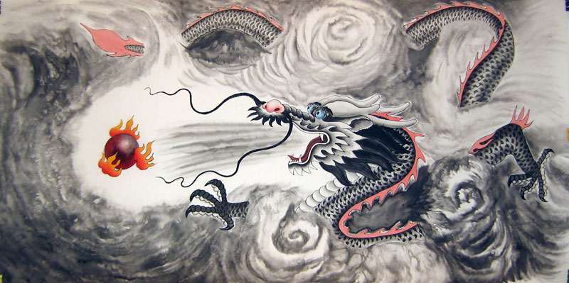 The Legend of the Dragon - Chinese dragon painting
