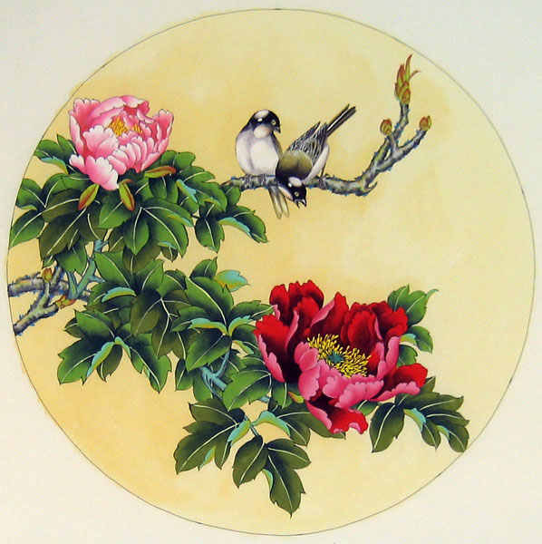 birds and flowers chinese bird painting