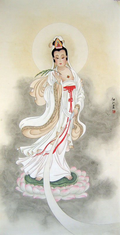 Chinese religion paintings - Kwan-yin (Guan Yin) Bodhisatta