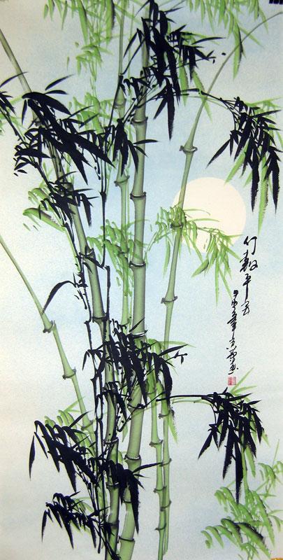 Chinese bamboo paintings - Green Bamboo