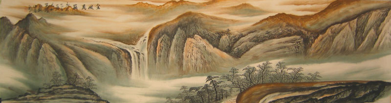 Chinese landscape paintings - Mountains in the Fall