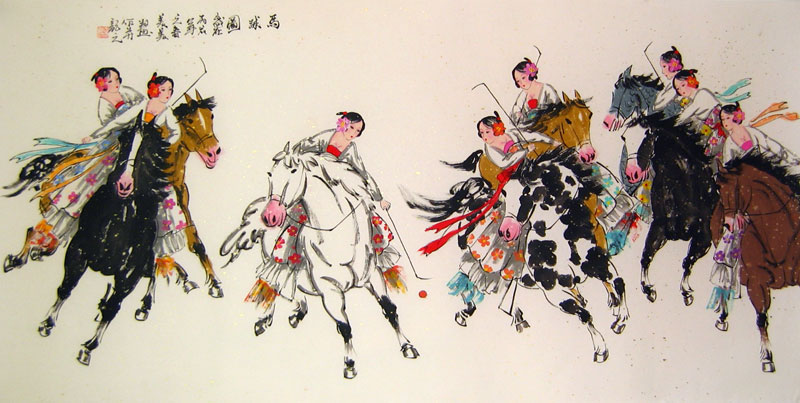 Chinese people paintings - Polo