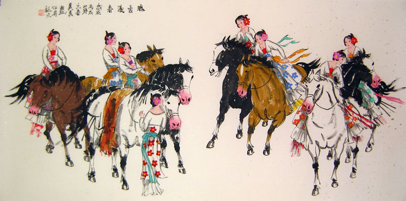 Chinese people paintings - On a Spring Outing