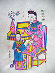 Chinese new year paintings - Yangjiabu - May You Be Blessed with Peace and Safely in Four Seasons